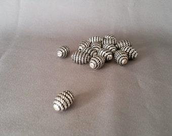 Base Metal Bead Strand of 15 Beads LVLC-037