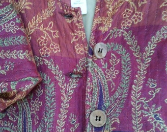 SALE! Vintage Coldwater Creek, Boho jacket, Bohemian Jacket, size M, womens clothing, women's blazer, junior clothiing, Boho jacket, purple