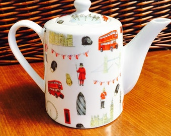 London Large Bone China Teapot