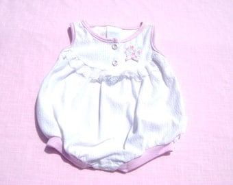 vintage healthtex made in united states union made girls romper size 6-9 months see measurements sleeveless