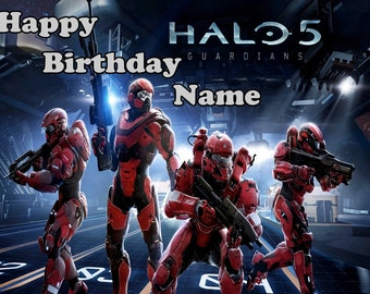 Halo 5 Personalized Edible Image Sheet