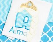 Elsa Initial Monogrammed Shirt Big Sister Custom Frozen Disney Princess Shirt Girls Clothing