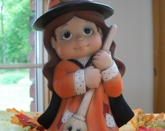 ceramic witch tot trick or treater