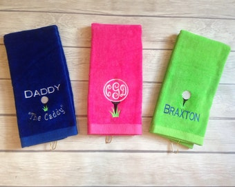 Monogrammed Golf towels with grommet! Many colors!!!