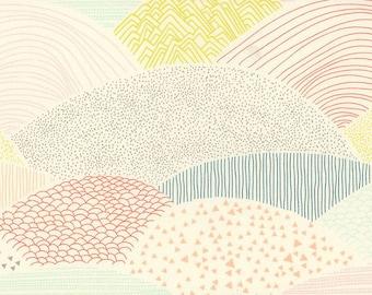 Low Volume Landscape Fabric - Hello Bear Fabric - Summit Dawn - Fabric By the Half Yard