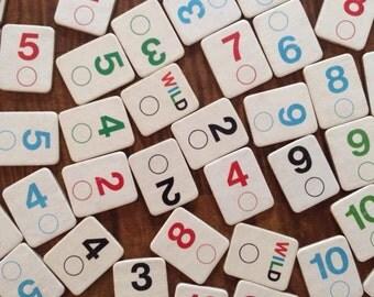 Vintage Chipboard Numbers, Set of 108, Rumi K Game Numbers