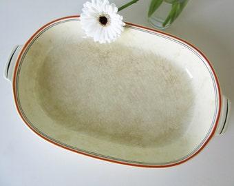 Vintage Serving Dish by Societe Ceramique Maestricht Twente 30s
