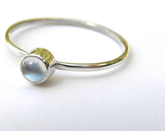 Moonstone ring, Sterling silver and moonstone ring, silver and moonstone, moonstone ring, June birthstone ring, handmade ring, made to order
