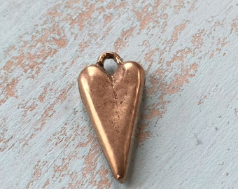 Heart Pendant, Charm Rustic Bronze, Wholesale Jewelry Supplies