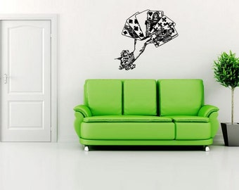Wall Vinyl Sticker Decals Mural Room Design Pattern Art Cards Game Hand Play Fun bo1820