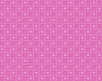 Flori-logic Mini Geo Pink Cotton Woven Fabric