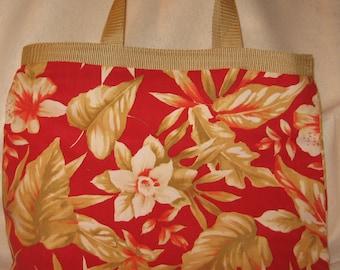 Silk Tote Bag Silk Bag Tropical Tote Bag Weekend Bag Weekend Tote Summer Tote