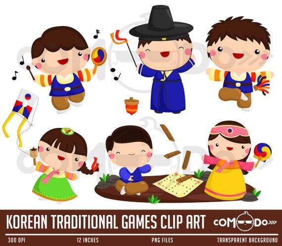 Buy 1 Get 1 Korean Traditional Games Cute Clipart ...