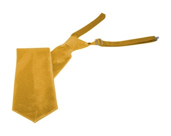 Gold Sparkling Banded Straight Tie
