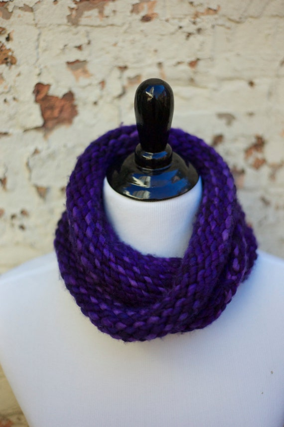 Knitting Kit DIY infinity wrap cowl scarf, pure soft wool ...
