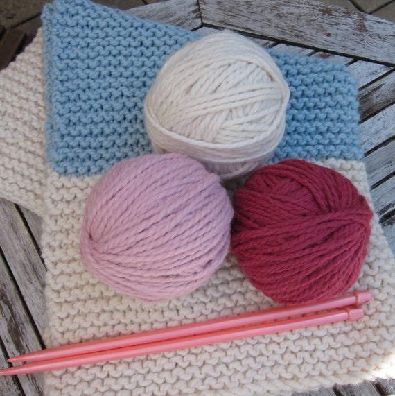 Knitting Kit For Beginners Walmart : Knitting kit diy beginner knit your own baby blanket by