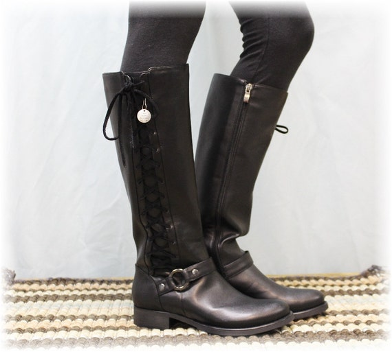 Womens Tall Leather Winter Boots | Santa Barbara Institute for ...