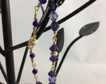 Bracelet: Gold-filled and Swarovski Elements