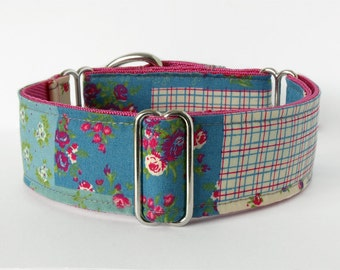 Martingale Dog Collar, Handmade In Ireland. Patchwork.