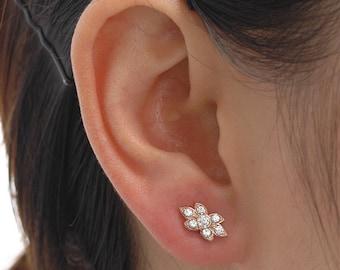 Silver ear cuff, Gold ear cuff, Rose gold ear cuff, Silver earrings, Gold earrings, Rose gold earrings, Stud earrings