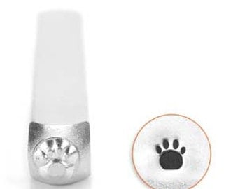 Paw Print Stamp 3mm for hand stamping on metal or leather