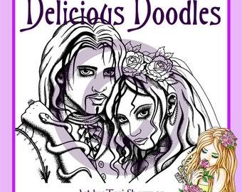 Digital Stamp - Wedding - Gothic Bride and Groom