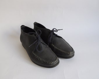Vintage Leather Shoes/ Genuine Real Leather/ Made in Italy