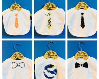 From Bow Ties to Fancy Pattern Ties to Batman we have the bib for you!