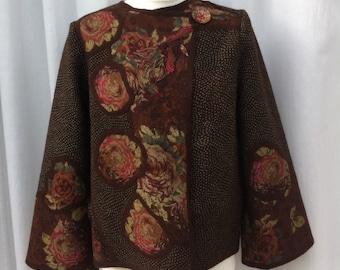 Hand Felted Merino Wool and Silk Jacket