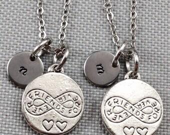 Best friend necklace, friendship necklace, infinity necklace, bff necklace, friend necklace, personalized necklace