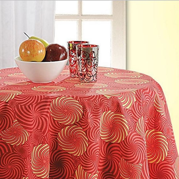 Party table cloth, party table cover, kitchen table decor, round table ...