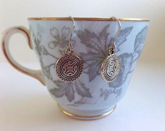 Silver Sun Earrings - Hook or Clip-On