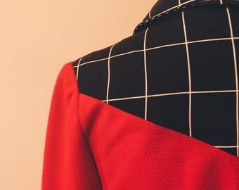 Vibrant Mod Red Shirtdress