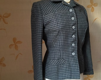 1940s vintage wool tweed blazer