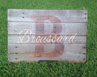 Personalized last name pallets