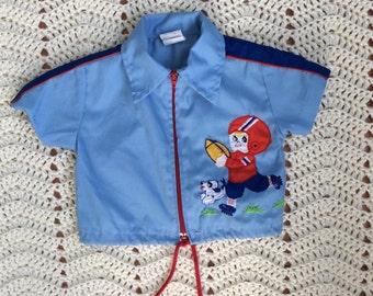 Vintage Football Zip up Jacket 6-9 Months