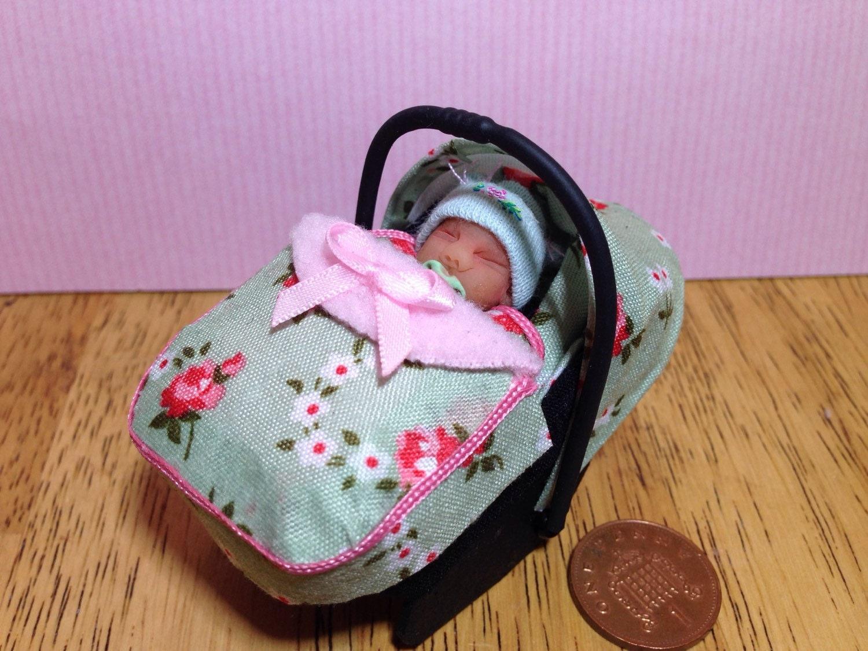 Dolls House Ooak Baby Girl Amp Car Seat Baby By Sarahsooakbabies