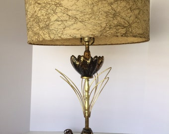 1950's Black and Gold Table Lamp