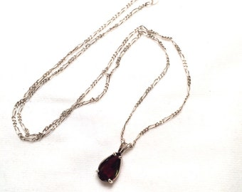 925 sterling silver necklace with gem