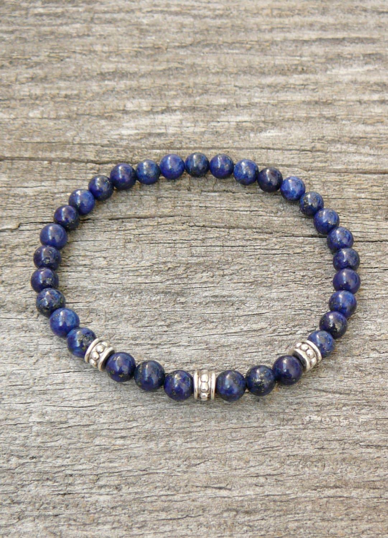 lapis lazuli mens bracelet womens bracelet lapis lazuli. Black Bedroom Furniture Sets. Home Design Ideas