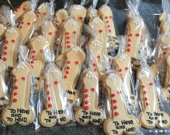 "24 ""to have and to hold"" bachelorette cookies"