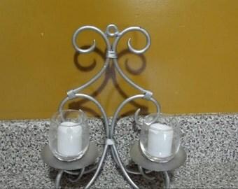 Rustic metal Candleholder