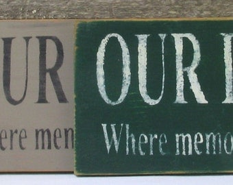 Our Deck Wooden Sign