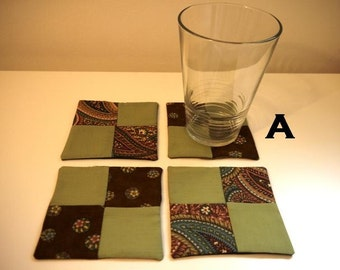 Set of 4 co-ordinating coasters