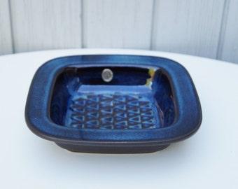 Decorative Bowl Decorative Tray Blue Tray Søholm EJ 64 Mid Century Modern Danish Design Triangular Pattern