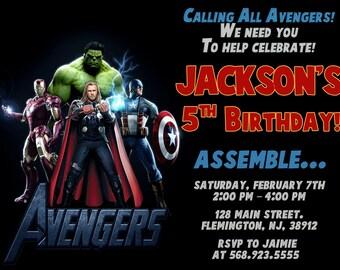 Avengers Invitation Birthday Party