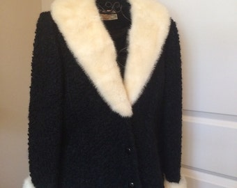 Vintage Fur Trimmed Jacket by The Majestic