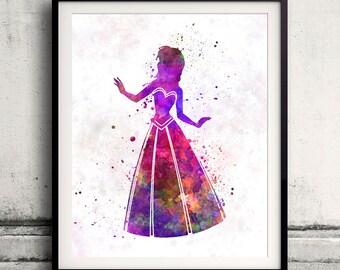 Anna - Frozen - 8x10 in. to 12x16 in. Fine Art Print Glicee Disney Poster Watercolor Nursery Room Children's Art Illustration - SKU 1054