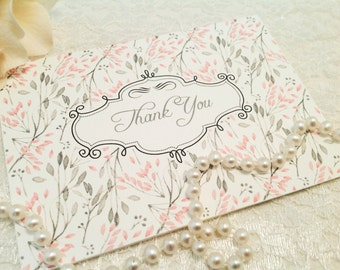 All occasion note cards-Thank You Cards-Floral Cards and Stationery-Set of 10