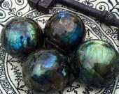 Gorgeous Electric Labradorite Spheres! New Moon magic.